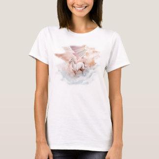T-shirt Nuages courants de cuvette de cheval blanc