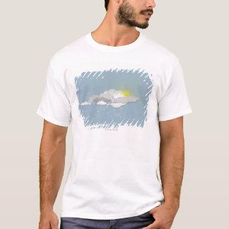T-shirt Nuages, Sun et flocons de neige