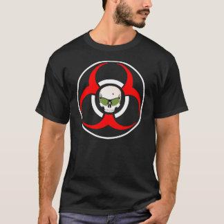 T-shirt Nuances de vert de BioHazard de zombi