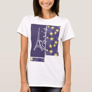 T-shirt Nuit étoilée de Paris ; Tour Eiffel