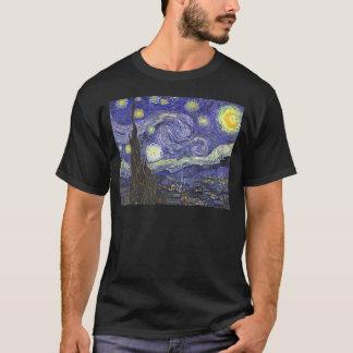 T-shirt Nuit étoilée de Van Gogh, paysage vintage de