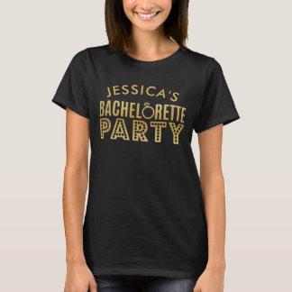 T-shirt nuptiale de partie de Bachelorette de noir
