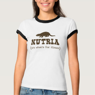 T-shirt Nutria il est ce qui est pour la sonnerie de dames