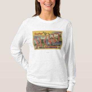 T-shirt Oakland, la Californie - grandes scènes de lettre
