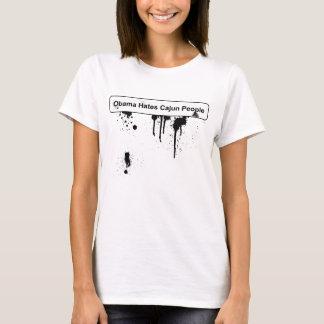 T-shirt Obama déteste des personnes de Cajun - flaque