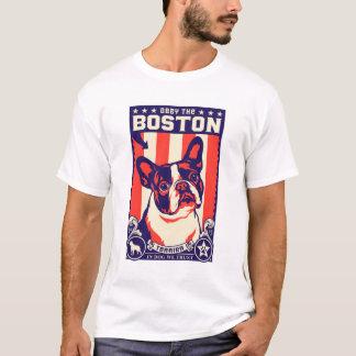 T-shirt Obéissez Boston Terrier !