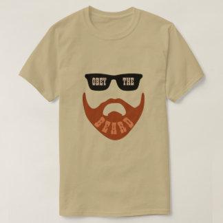 """T-shirt Obéissez la barbe Brown les """"yeux """" (de rouge)"""