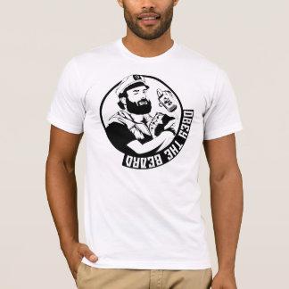 T-shirt Obéissez la pièce en t des hommes de barbe