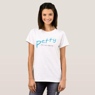 T-shirt oblique petit bleu-clair