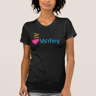 T-shirt Obscurité d'AF Wifey de néon