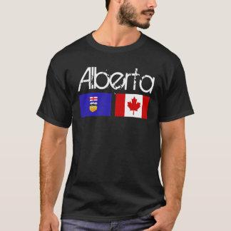 T-shirt Obscurité de chemise de drapeau d'Alberta
