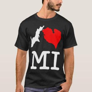 T-shirt Obscurité de MI du ♥ I (coeur Michigan d'I), gros