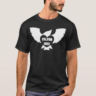 T-shirt Obscurité d'étreinte de faucon de sandwich à
