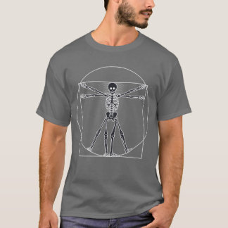 T-shirt Obscurité squelettique d'homme de Vitruvian