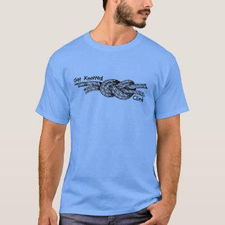 T-shirt Obtenez la pièce en t nouée d'escalade de roche