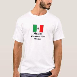 T-shirt occidental de mission du Mexique Monterrey