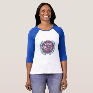 T-shirt occidental mignon d'indigène de Seattle