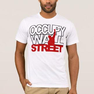 T-SHIRT OCCUPEZ LE ROUGE DE WALL STREET