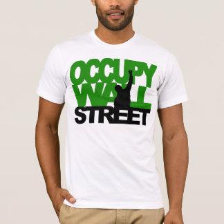T-shirt OCCUPEZ le vert de WALL STREET