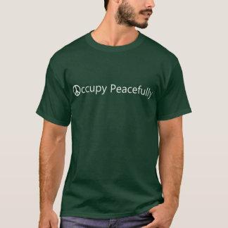 T-shirt Occupez Wall Street paisiblement. La chemise de