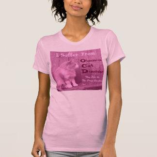 T-shirt OCD : Chemise obsédante de désordre de chat - rose
