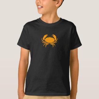 T-shirt Océan Glow_Orange sur le crabe noir