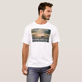 T-shirt Océan plat de calme de la terre - blanc