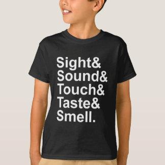 T-shirt Odeur | de goût de contact de bruit de vue cinq