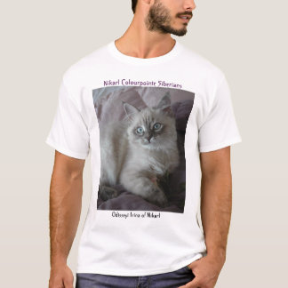 T-shirt Odisseyi Irina de la chemise sibérienne de chaton