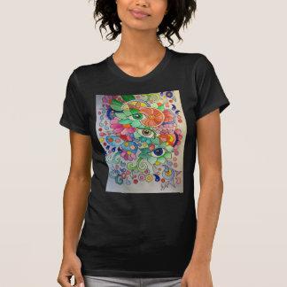T-shirt Oeils en couleur