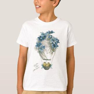 T-shirt Oeuf chaud de ballon à air de poussin de Pâques