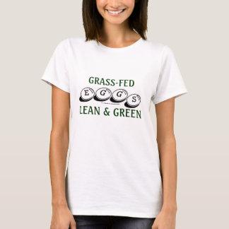 T-shirt Oeufs engraissés aux champs : Maigre et vert