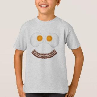 T-shirt Oeufs et chemise de grimace de lard