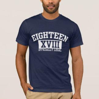 T-shirt Officiellement 18ème pièce en t juridique de
