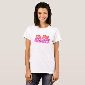 T-shirt Oh je nerfs rouges et roses -