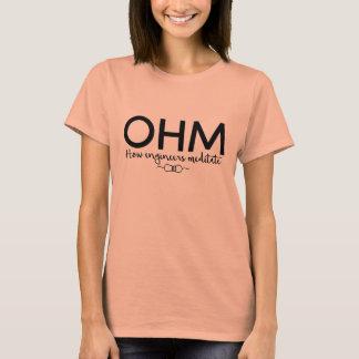 T-shirt Ohm - méditez comme un ingénieur (l'humour de