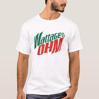 T-shirt ohms de puissance en watts