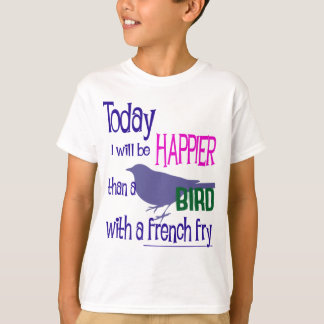 T-shirt Oiseau avec des pommes frites