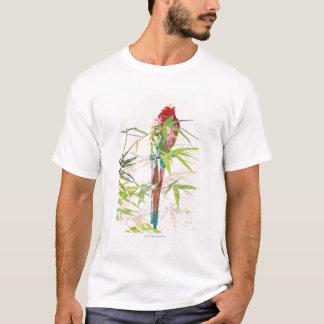 T-shirt Oiseau avec le feuille en bambou