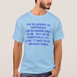 T-shirt oiseau bleu de bonheur