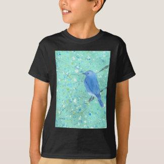 T-shirt Oiseau bleu léger et sensible