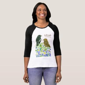T-shirt Oiseau d'état de l'étamine d'alouette du Colorado