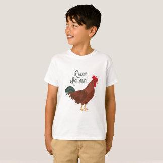 T-shirt Oiseau d'état de poulet de rouge d'île de Rhode