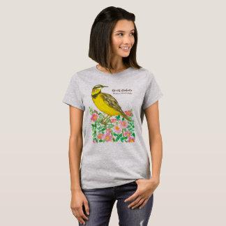 T-shirt Oiseau d'état du Dakota du Nord Meadowlark