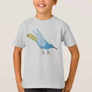 T-shirt Oiseau d'une couleur (bleue)