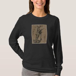 T-shirt Oiseau sur la branche de prune