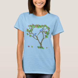 T-shirt Oiseaux bleus