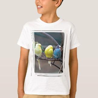 T-shirt Oiseaux colorés lumineux de perroquets de
