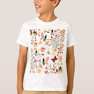 T-shirt oiseaux d'automne