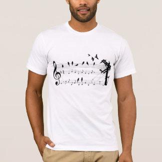 T-shirt Oiseaux sur un score